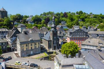 Aerial view of Monschau : Stock Photo or Stock Video Download rcfotostock photos, images and assets rcfotostock | RC-Photo-Stock.: