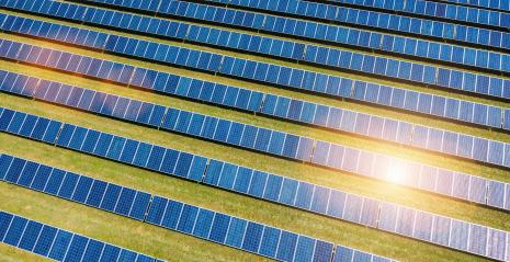 Aerial view of solar panels field- Stock Photo or Stock Video of rcfotostock | RC-Photo-Stock