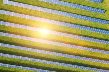 aerial view of solar panels on a sunny day. power farm producing clean energy- Stock Photo or Stock Video of rcfotostock | RC-Photo-Stock