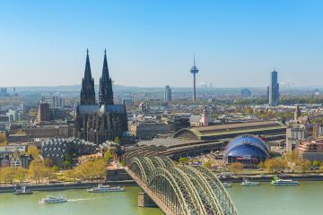 aerial view of the Cologne Cathedral at spring- Stock Photo or Stock Video of rcfotostock | RC-Photo-Stock