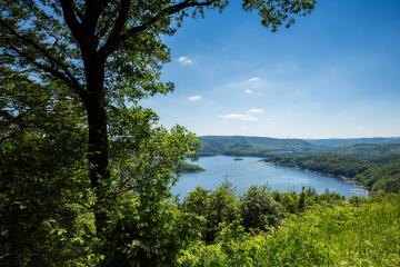 aerial view of the Rursee lake at summer- Stock Photo or Stock Video of rcfotostock   RC-Photo-Stock