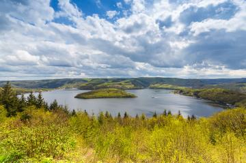 aerial view of the Rursee lake at the Eifel : Stock Photo or Stock Video Download rcfotostock photos, images and assets rcfotostock | RC-Photo-Stock.: