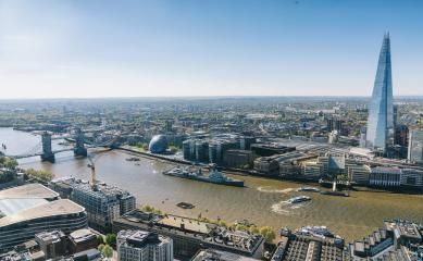 Aerial view on thames and london city- Stock Photo or Stock Video of rcfotostock | RC-Photo-Stock