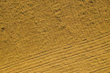 agricultural plowed field prepared for planting. Aerial view shoot from drone directly above field- Stock Photo or Stock Video of rcfotostock | RC-Photo-Stock