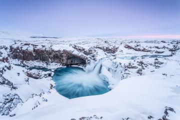 Aldeyjarfoss Wasserfall im Winterkleid, Schnee, Eis, Island : Stock Photo or Stock Video Download rcfotostock photos, images and assets rcfotostock | RC-Photo-Stock.: