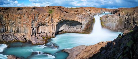 Aldeyjarfoss waterfall panorama : Stock Photo or Stock Video Download rcfotostock photos, images and assets rcfotostock | RC-Photo-Stock.: