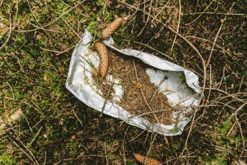aluminum Bowl rotted in the forest, pollution and Environment concept- Stock Photo or Stock Video of rcfotostock | RC-Photo-Stock
