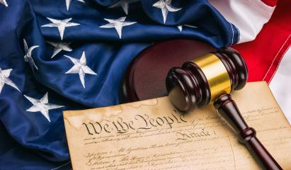 American Constitution - We the people with USA Flag and judge gavel- Stock Photo or Stock Video of rcfotostock | RC-Photo-Stock