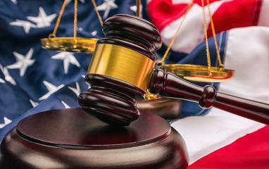 American flag and golden scale with a judge's gavel symbolizing the American justice system- Stock Photo or Stock Video of rcfotostock | RC-Photo-Stock