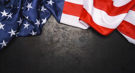 American flag on dark metallic with free space. 4th July Veterans or US Independence day.- Stock Photo or Stock Video of rcfotostock | RC-Photo-Stock