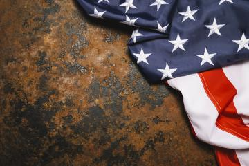 American flag on dark rusty metal with free space. 4th July Veterans or US Independence day.- Stock Photo or Stock Video of rcfotostock | RC-Photo-Stock