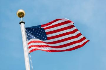 American flag waving in the wind- Stock Photo or Stock Video of rcfotostock | RC-Photo-Stock
