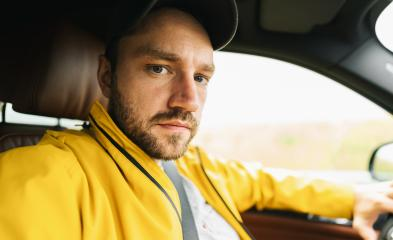 Angy young man solo traveler taking selfie in the car - Adventure wanderlust concept on the road- Stock Photo or Stock Video of rcfotostock | RC-Photo-Stock