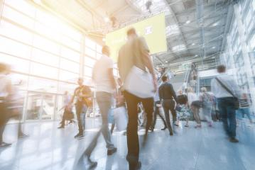 Anonyme Menschenmenge geht auf Messe veranstaltung- Stock Photo or Stock Video of rcfotostock | RC-Photo-Stock