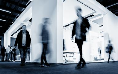 anonymous blurred business people at a International Trade show - Stock Photo or Stock Video of rcfotostock | RC-Photo-Stock