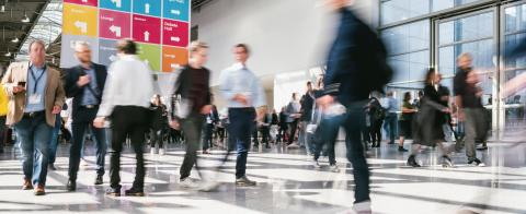 anonymous blurred business people at a trade fair - Stock Photo or Stock Video of rcfotostock | RC-Photo-Stock