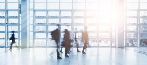 Anonymous blurred business people walking in a modern environment- Stock Photo or Stock Video of rcfotostock | RC-Photo-Stock