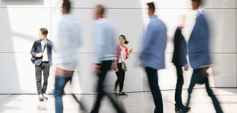 Anonymous blurred crowd at trade fair or conference : Stock Photo or Stock Video Download rcfotostock photos, images and assets rcfotostock | RC-Photo-Stock.: