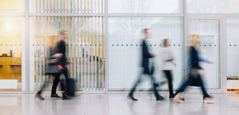 Anonymous blurred group of business people go on gear in the office : Stock Photo or Stock Video Download rcfotostock photos, images and assets rcfotostock | RC-Photo-Stock.: