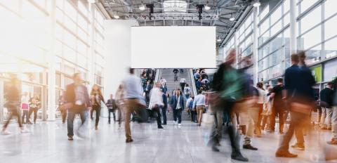 anonymous blurred people at a tradeshow : Stock Photo or Stock Video Download rcfotostock photos, images and assets rcfotostock | RC-Photo-Stock.: