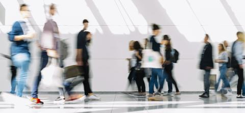 Anonymous blurred people go into shopping mall or airport- Stock Photo or Stock Video of rcfotostock | RC-Photo-Stock