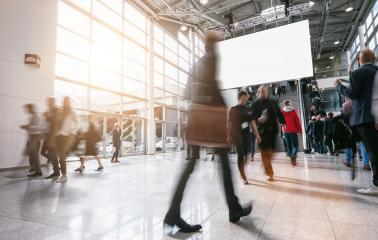 Anonymous blurred people walking in a hall- Stock Photo or Stock Video of rcfotostock | RC-Photo-Stock