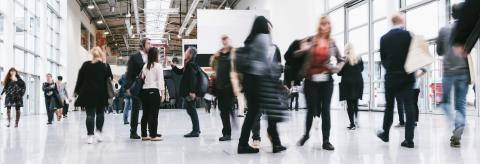 Anonymous business crowd on a tradeshow- Stock Photo or Stock Video of rcfotostock | RC-Photo-Stock