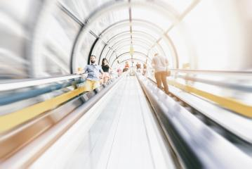 anonymous commuter rushing on a escalator- Stock Photo or Stock Video of rcfotostock | RC-Photo-Stock