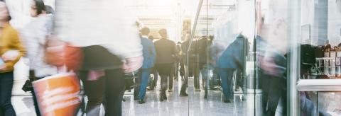Anonymous crowd in a Shopping mall- Stock Photo or Stock Video of rcfotostock   RC-Photo-Stock