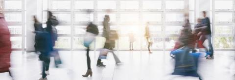 Anonymous crowd in a Shopping mall motion blur- Stock Photo or Stock Video of rcfotostock | RC-Photo-Stock