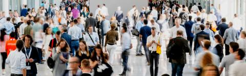 Anonymous crowd of business people at trade fair - Stock Photo or Stock Video of rcfotostock | RC-Photo-Stock