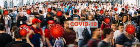 Anonymous crowd of people goes in a pedestrian at london and  become infected with Covid-19 or Coronavirus- Stock Photo or Stock Video of rcfotostock | RC-Photo-Stock