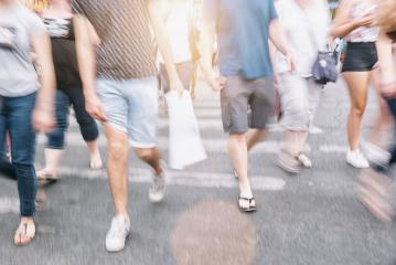 anonymous crowd of people on a shopping street- Stock Photo or Stock Video of rcfotostock | RC-Photo-Stock