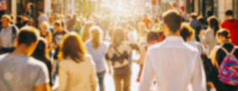 anonymous crowd of people walking, dedocused background- Stock Photo or Stock Video of rcfotostock | RC-Photo-Stock