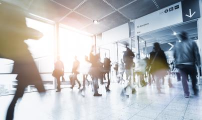 Anonymous Crowd of people walking in a modern environment- Stock Photo or Stock Video of rcfotostock | RC-Photo-Stock