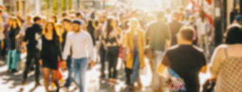 anonymous defocused crowd of people on a shopping street- Stock Photo or Stock Video of rcfotostock | RC-Photo-Stock