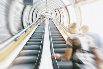 anonymous people rushing on a escalator- Stock Photo or Stock Video of rcfotostock | RC-Photo-Stock