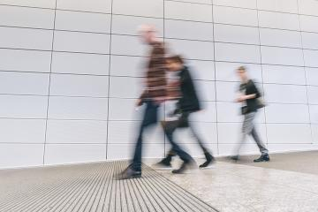 anonymous people walking in a corridor- Stock Photo or Stock Video of rcfotostock | RC-Photo-Stock