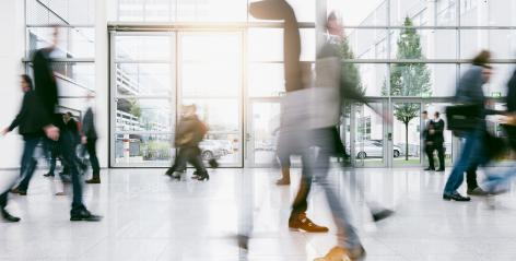 anonymus crowd of blurred business people rushing in a corridor- Stock Photo or Stock Video of rcfotostock | RC-Photo-Stock