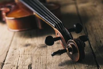 Antique Violin on a wooden floor- Stock Photo or Stock Video of rcfotostock | RC-Photo-Stock