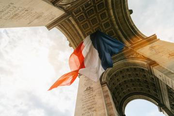 Arc de Triomphe with french flag during bastille day in paris, france : Stock Photo or Stock Video Download rcfotostock photos, images and assets rcfotostock | RC-Photo-Stock.: