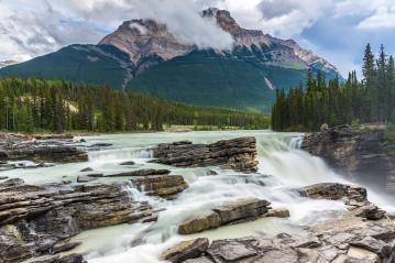 Athabasca Waterfalls by Icefields Parkway, Jasper National Park, Alberta, Canada : Stock Photo or Stock Video Download rcfotostock photos, images and assets rcfotostock | RC-Photo-Stock.: