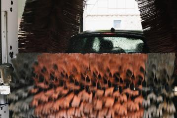 Automatic car wash brushes in action- Stock Photo or Stock Video of rcfotostock | RC-Photo-Stock
