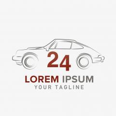 automotive industry retro car 24h garage vector design template Logo design. Corporate design. Vector illustration. Eps 10 vector file.- Stock Photo or Stock Video of rcfotostock | RC-Photo-Stock