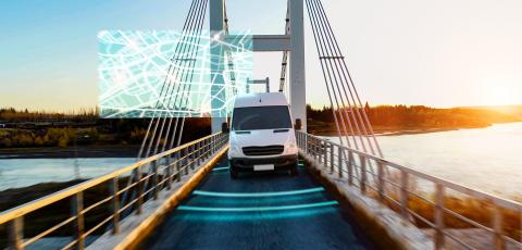 Autonomous transporter Car driving on a bridge highway with technology assistant tracking information, showing details. : Stock Photo or Stock Video Download rcfotostock photos, images and assets rcfotostock | RC-Photo-Stock.: