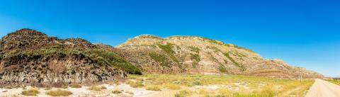 Badlands landscape panorama in drumheller canada- Stock Photo or Stock Video of rcfotostock | RC-Photo-Stock