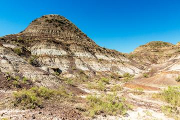 Badlands Mountain valley in summer at alberta Canada- Stock Photo or Stock Video of rcfotostock | RC-Photo-Stock