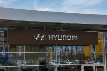 BAESWEILER, GERMANY MARCH, 2017: Office of official Hyundai dealer. Hyundai is the South Korea's automotive manufacturer. : Stock Photo or Stock Video Download rcfotostock photos, images and assets rcfotostock | RC-Photo-Stock.: