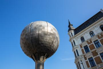 ball fountain in aachen- Stock Photo or Stock Video of rcfotostock | RC-Photo-Stock