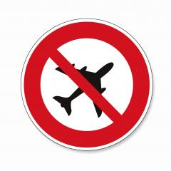 Ban flying. No flying zone, prohibition sign, on white background. Vector illustration. Eps 10 vector file.- Stock Photo or Stock Video of rcfotostock | RC-Photo-Stock